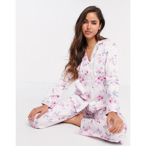 Ensemble pyjama avec col à encoche - fleuri - LAUREN by RALPH LAUREN - Modalova