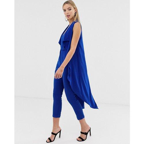 Combinaison ajustée avec veste effet cascade - Cobalt - Lavish Alice - Modalova