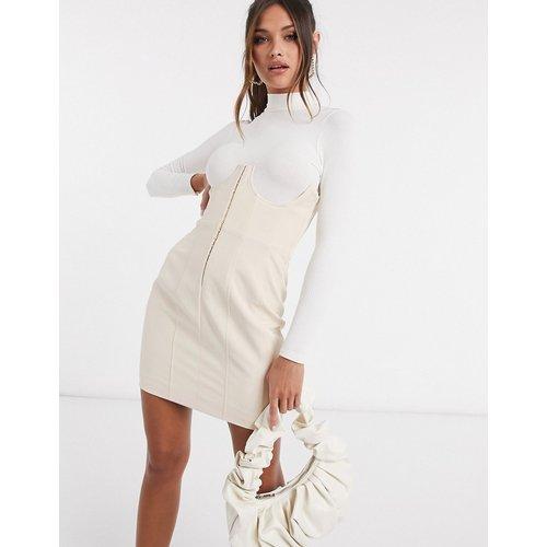 Jupe taille haute style corset - Taupe - Lavish Alice - Modalova
