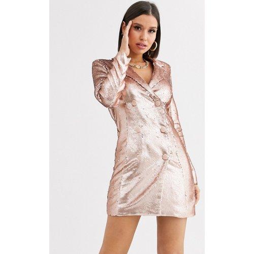 Robe blazer courte à sequins - Lavish Alice - Modalova
