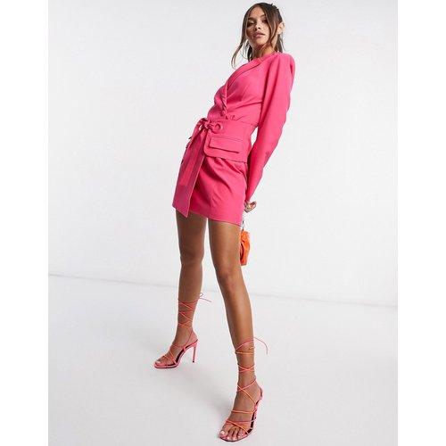 Robe style blazer avec lien à nouer à la taille - Lavish Alice - Modalova