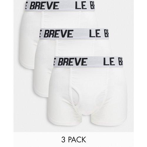 Le Breve - Lot de 3boxers - Blanc - Le Breve - Modalova