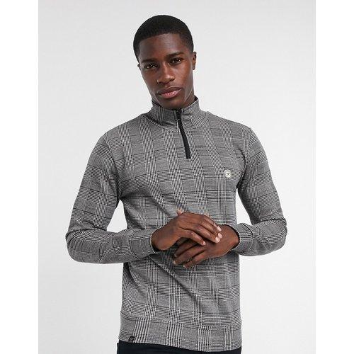 Sweat-shirt à carreaux Prince de Galles avec demi-fermeture éclair - (ensemble) - Le Breve - Modalova