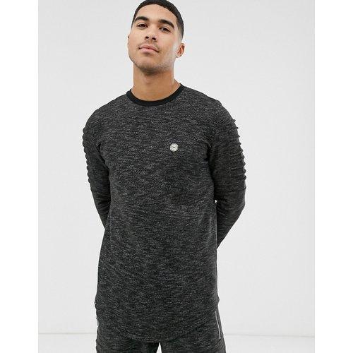 Sweat-shirt ras de cou côtelé - Le Breve - Modalova