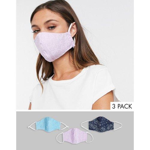 Lot de 3 masques en tissu réversibles et réutilisables - Multicolore - Levi's - Modalova