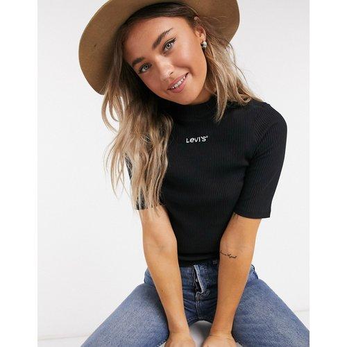 T-shirt crop top côtelé ajusté à logo - Levi's - Modalova
