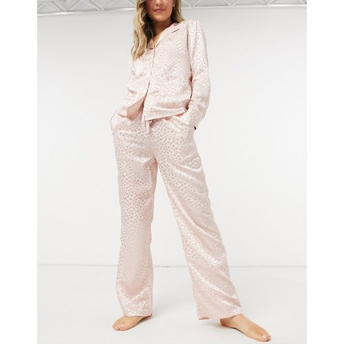 Bas de pyjama à motif jacquard - blush - Liquorish - Modalova