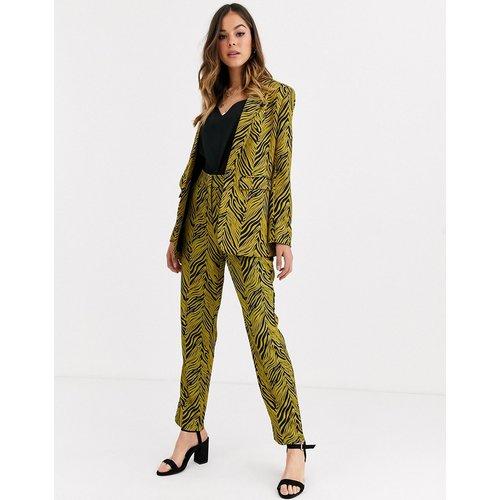 Pantalon de costume (ensemble) à imprimé abstrait - Doré et noir - Liquorish - Modalova