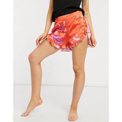 Short de pyjama à imprimé floral - Rose et rouge - Liquorish - Modalova