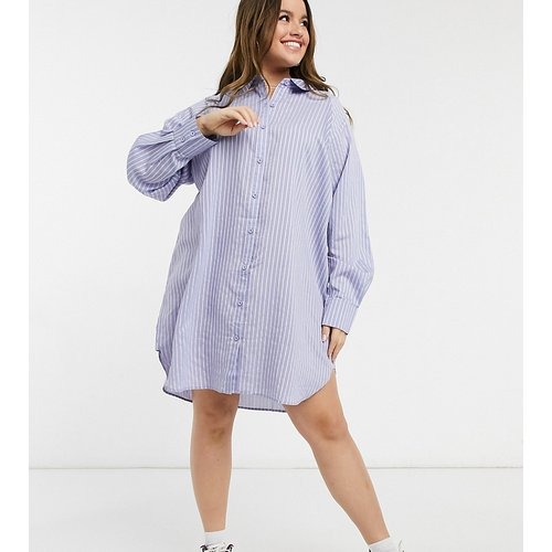 Robe chemise à rayures - Lola May Curve - Modalova