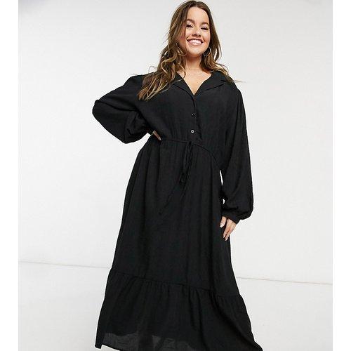 Robe longue à manches bouffantes et taille nouée - Lola May Curve - Modalova