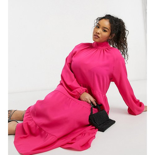 Robe trapèze en popeline de coton - Lola May Curve - Modalova