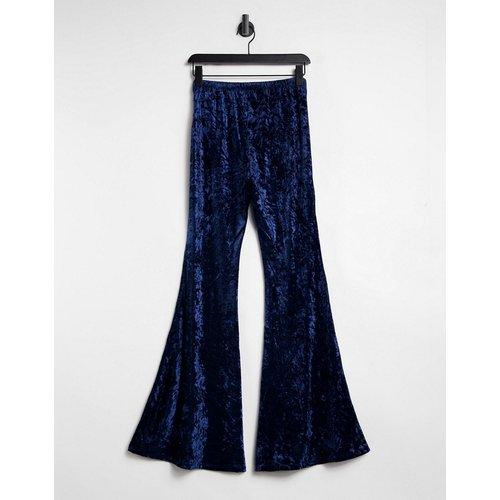 Pantalon évasé en velours - Bleu - Lottie And Holly - Modalova