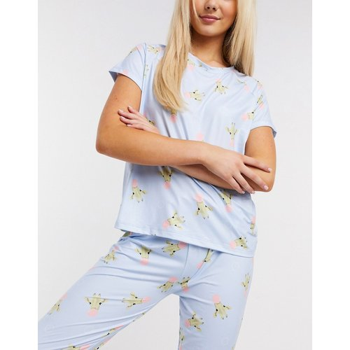 Ensemble de pyjama à imprimé girafe bubblegum - pâle - Loungeable - Modalova