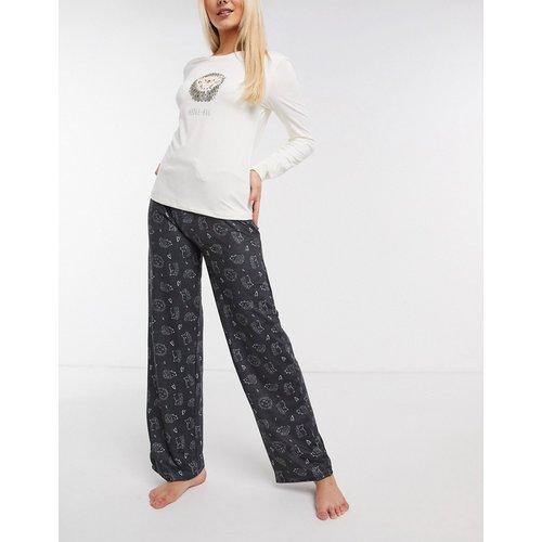 Hedge-hug - Pyjama long ultra doux - Gris et crème - Loungeable - Modalova