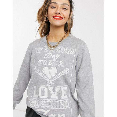 Fan - Sweat-shirt à logo et inscription - Love Moschino - Modalova
