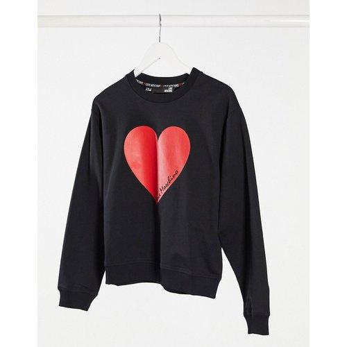 Sweat-shirt avec logo cœur - Love Moschino - Modalova