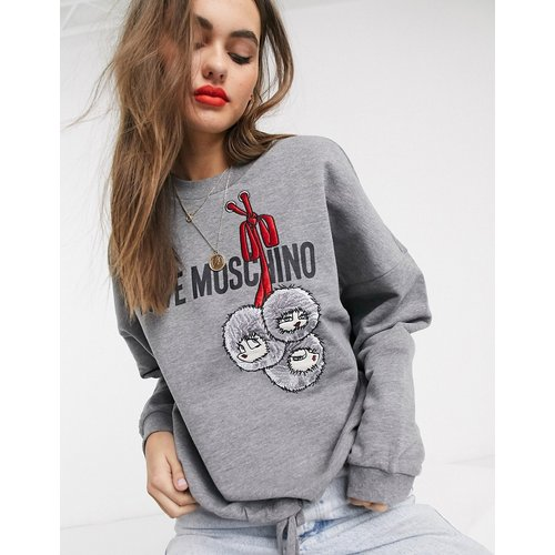 Sweat-shirt avec logo et imprimé boules - Love Moschino - Modalova
