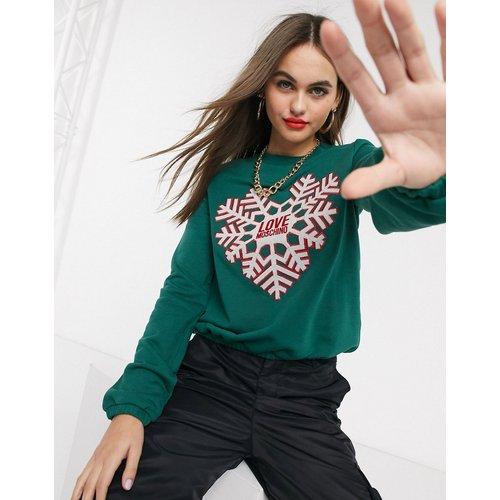 Sweat-shirt avec logo et imprimé flocon de neige - Love Moschino - Modalova