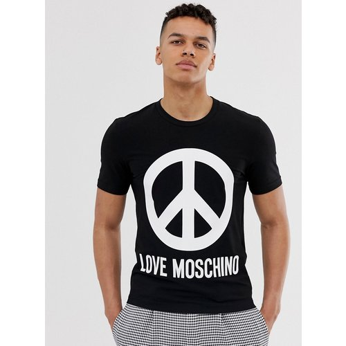 T-shirt avec grand logo symbole de la paix - Love Moschino - Modalova