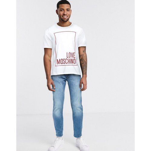 T-shirt avec logo encadré - Love Moschino - Modalova