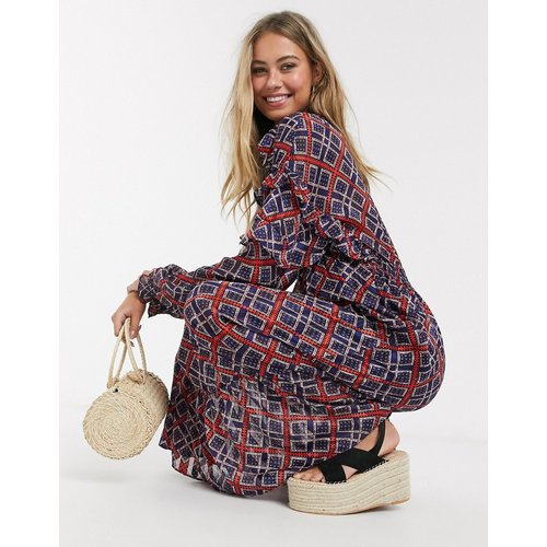 Robe longue imprimé à volants - Maison Scotch - Modalova