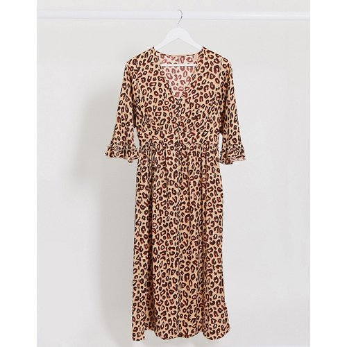Robe mi-longue volantée imprimé animal - Maison Scotch - Modalova
