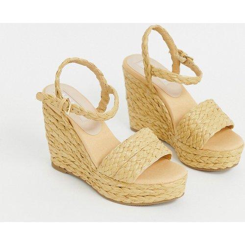 Chaussures compensées en raphia - Mango - Modalova