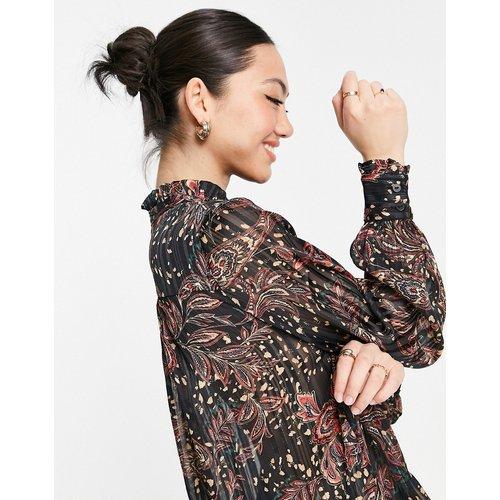 Chemise sans col à motif cachemire - Mango - Modalova