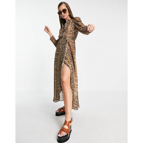 Robe chemise à imprimé serpent - Mango - Modalova