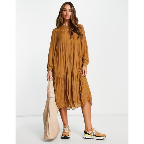 Robe longue à effet étagé - Mango - Modalova