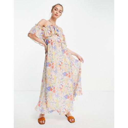 Robe longue à fleurs et bretelles fines - Mango - Modalova