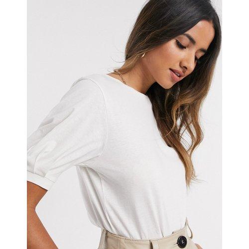 T-shirt en tissu biologique à manches bouffantes - Mango - Modalova