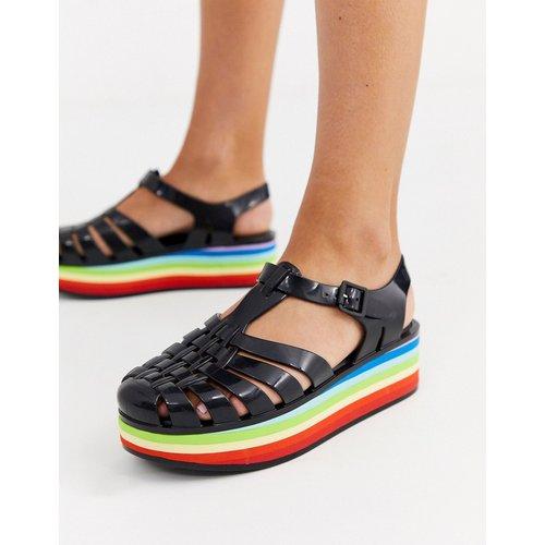 Sandales en plastique souple avec semelle plateforme arc-en-ciel - Melissa - Modalova