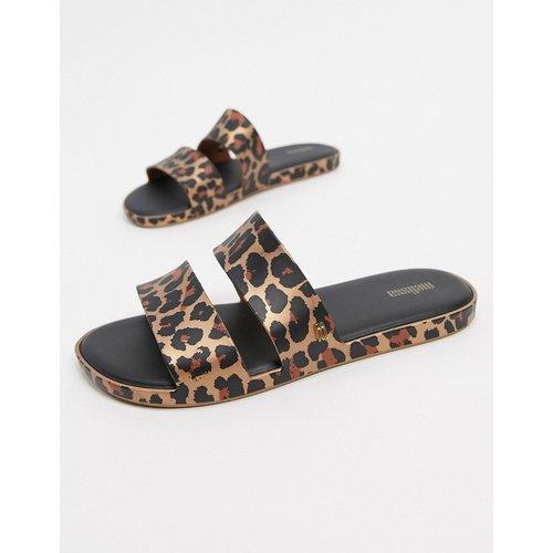 Sandales plates à imprimé léopard - Melissa - Modalova