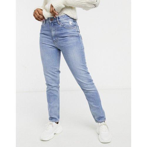 MiH - Mimi - Jean droit taille haute en denim - délavé moyen - MiH Jeans - Modalova