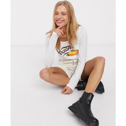 MiH - Peachy - Top à message-Blanc - MiH Jeans - Modalova
