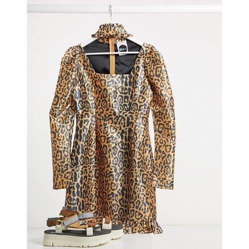 Milk It - Robe léopard style vintage à manches bouffantes avec découpe - The Ragged Priest - Modalova