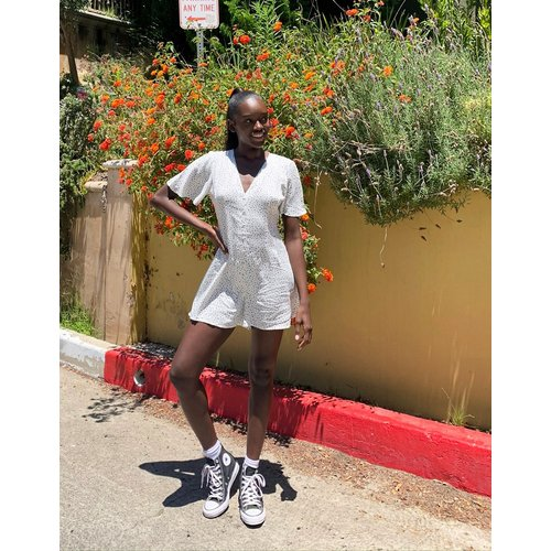 Combishort imprimé - Ivoire - Miss Selfridge - Modalova