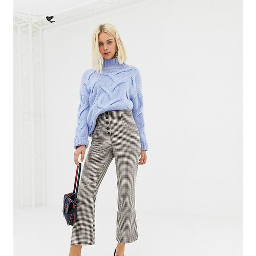 Pantalon évasé court à carreaux - Miss Selfridge - Modalova