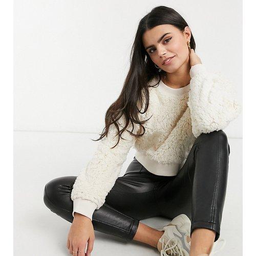Sweat-shirt court duveteux (ensemble) - Miss Selfridge Petite - Modalova