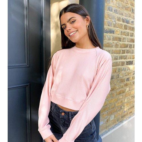 Sweat-shirt en tissu brossé - Rose pâle - Miss Selfridge Petite - Modalova