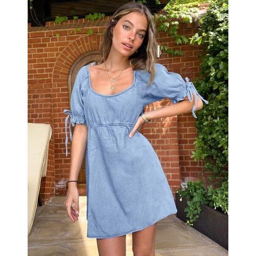 Robe courte en jean style milkmaid - Miss Selfridge - Modalova