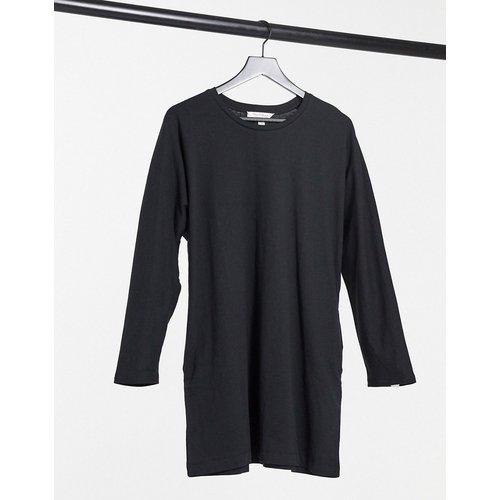 Robe t-shirt à manches longues - Noir - Miss Selfridge - Modalova