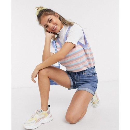 Short en jean recyclé - Délavage moyen - Miss Selfridge - Modalova