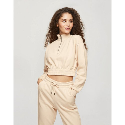 Sweat-shirt à col zippé - Miss Selfridge - Modalova