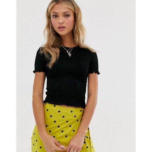 T-shirt à bordure ondulée - Miss Selfridge - Modalova