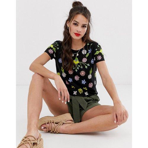 T-shirt avec broderie florale - Miss Selfridge - Modalova