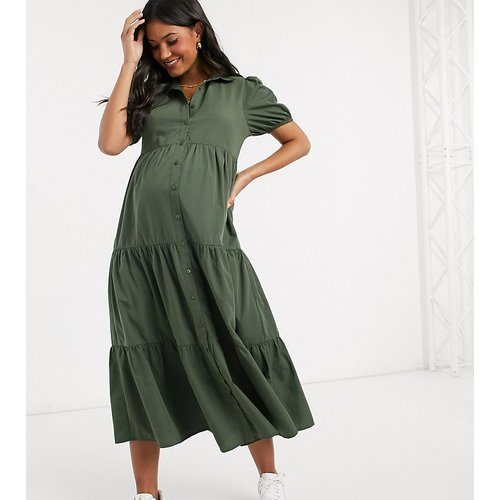 Robe chemise coupe babydoll longue - Missguided Maternity - Modalova