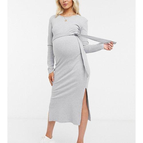 Robe mi-longue à ceinture - Missguided Maternity - Modalova